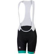 Sportful BodyFit Pro Womens Bib Shorts - Black/Green/Pink