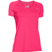 Under Armour Women's HeatGear Short Sleeve T-Shirt - Red