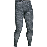 Under Armour Men's HeatGear Armour Printed Compression Leggings - Black