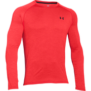 Under Armour Men's Tech Patterned Long Sleeve T-Shirt - Red