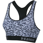Under Armour Women's HeatGear Armour Printed Mid Sports Bra - White/Black