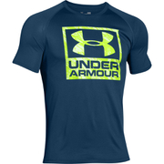 Under Armour Men's Tech Boxed Logo T-Shirt - Navy Blue