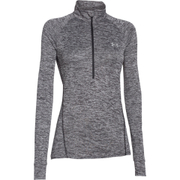 Under Armour Women's Tech 1/2 Zip Twist Long Sleeve Top - Black