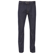 Smith & Jones Mens Stryker Belted Bootcut Jeans - Dark Wash