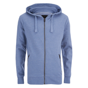 Smith & Jones Men's Palazzo Zip Through Hoody - Midnight Blue Marl