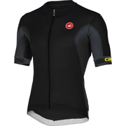 Castelli Volata Full Zip Short Sleeve Jersey - Black/White