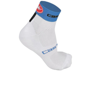 Castelli Free 6 Cycling Socks - White/Blue