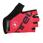 Castelli Tempo V Gloves - Red/Black