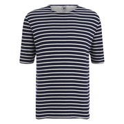 Wood Wood Men's Harry Knitted T-Shirt - Navy/Off White