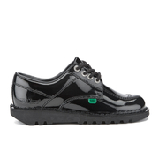 Kickers Women's Kick Lo Patent Lace Up Shoes - Black