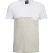 Jack & Jones Men's Originals Tobe 2 Tone T-Shirt - White