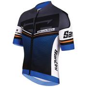 Santini Interactive 3.0 Short Sleeve Jersey - Blue