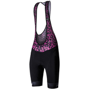 Santini Gold Women's Aero Bib Shorts - Black/Pink