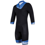 Santini Photon Aero Speed Suit - Black/Blue