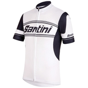 Santini Tau Short Sleeve Jersey - White