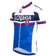 Santini Slovakia National Team 16 Short Sleeve Jersey - White/Blue