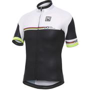 Santini UCI Rainbow Maglia UCI Line Short Sleeve Jersey - White/Black