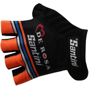 Santini De Rosa 16 Summer Race Gloves - Black