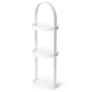 Wireworks Gloss White 3 Tray Round Caddy