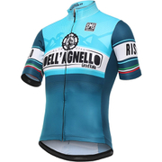 Santini Giro d'Italia 2016 Stage 19 Colle dell'Agnello Short Sleeve Jersey - Blue
