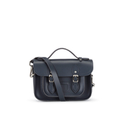 The Cambridge Satchel Company Women's Mini Magnetic Leather Satchel with Branded Hardware - Navy