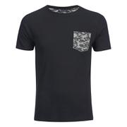 Brave Soul Men's Pulp Camo Pocket T-Shirt - Black