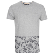 Threadbare Men's Pocket & Floral Hem T-Shirt - Grey