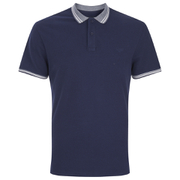 Threadbare Men's Warsaw Tipped Polo Shirt - Navy