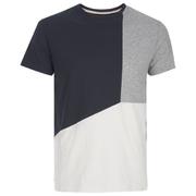 Threadbare Men's Haystings Cut & Sew T-Shirt - Navy Mix