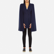 Lavish Alice Women's Split Back Cape Dress - Navy