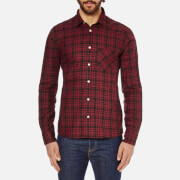 J.Lindeberg Men's Dani CL Soft Check Shirt - Deep Masi