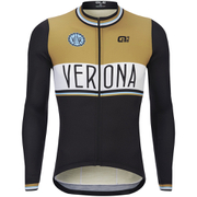 Alé Classic Verona Wool Long Sleeve Jersey - Black/Brown