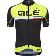 Alé PRR Circuito Short Sleeve Jersey - Black/Yellow
