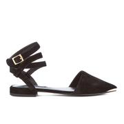 Senso Women's Fleur II Pointed Suede Toe Flats - Ebony