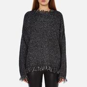 MICHAEL MICHAEL KORS Women's Fringe Trim Sweatshirt - Black