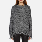 MICHAEL MICHAEL KORS Women's Fringe Trim Sweatshirt - Black