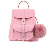Grafea Women's Belle Fur Pom Backpack - Pink