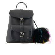 Grafea Women's Funky Fur Pom Backpack - Black