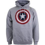 Marvel Mens Captain America Shield Hoody - Lichtgrijs