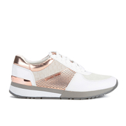 MICHAEL MICHAEL KORS Women's Allie Leather Trainers - White & Rose Gold