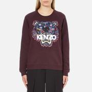 KENZO Women's Tiger Tanami Flower Print Sweatshirt - Prune Melange