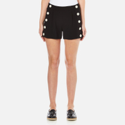 Boutique Moschino Women's Button Shorts - Black