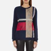Sportmax Code Women's Fida Lace Sweatshirt - Midnight Blue