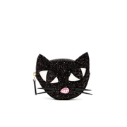 Lulu Guinness Women's Kooky Cat Glitter Coin Purse - Black