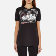 Vivienne Westwood Anglomania Women's Organic Cotton Orb Block T-Shirt - Black
