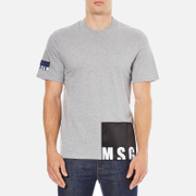 MSGM Men's Bottom Panel Logo T-Shirt - Grey