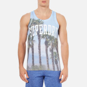 Superdry Men's Santa Monica Photo Print Vest - Sky Blue
