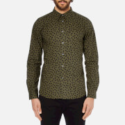 PS by Paul Smith Men's Patterned Long Sleeve Shirt - Khaki