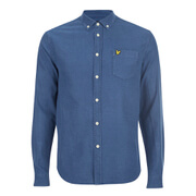 Lyle & Scott Vintage Men's Long Sleeve Indigo Oxford Shirt - Light Indigo