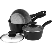 Russell Hobbs Stone Collection 3 Piece Pan Set Grey
